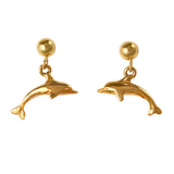 30749 - Dangling Dolphin Post Earrings