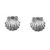 "30759 - 5/8"" Scallop Stud Earrings - Deeply Grooved"