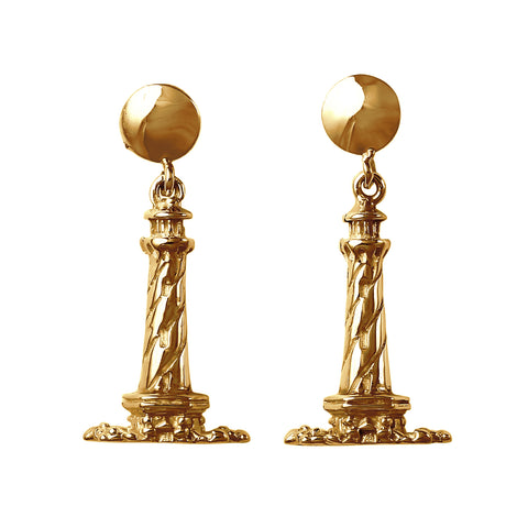"30835 - 3/4"" - Solid Dangling Hatteras Lighthouse Earrings"