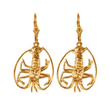 30878 - Florida Lobster Leverback Earrings