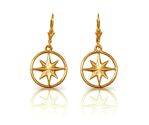 30893 - CAPE MAY Compass Rose Earrings