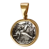 Boy on Dolphin Greek Diadrachm in 14k - Item #3361