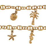 40230 - Nautical Chain Bracelet with Sea Life Charms