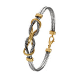 40414 - Double Love Knot Cable Bracelet