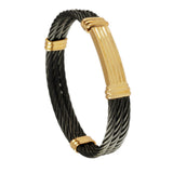 40416 - Black Cable Bracelet with Slide Clasp