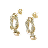 Square Knot Cable Earrings - Lone Palm Jewelry
