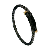 40440 - Simple Black Cable Bracelet