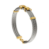 40467 - Jaguar Triple Strand Cable Bracelet