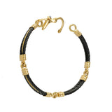 40488 - Four Segment Black Cable Bracelet with Sapphire