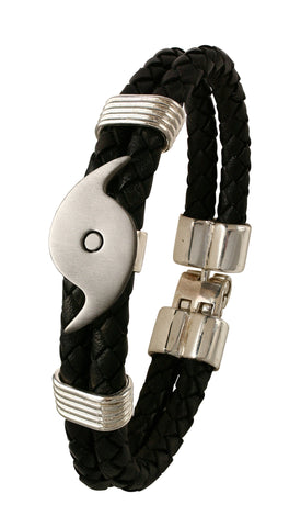 40662 - Leather Hurricane Bracelet (2 x 6mm)