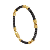 41436 - Five Segment Black Cable Bracelet