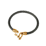 41439 - Black Cable Bracelet with Shackle Clasp