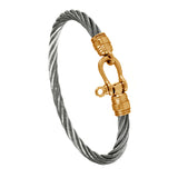 41439 - Stainless Steel Cable Bracelet with Shackle Clasp