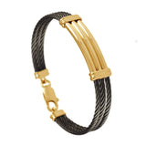 41441 - Triple Black Cable Bracelet