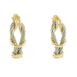 3 Strand Hoop Cable Earrings - Lone Palm Jewelry