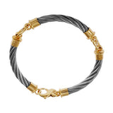 42403D - 3 Link Cable Bracelet with Diamond Bar Links