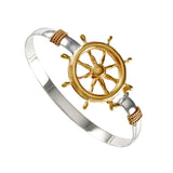 Large Ship's Wheel Hook Bracelet - Lone Palm Jewelry