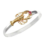 Lobster with Pink Tourmaline Hook Bracelet - Lone Palm Jewelry