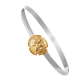 Raised Sand Dollar Hook Bracelet - Lone Palm Jewelry