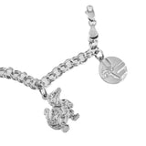UF Charm Bracelet - Sterling - Lone Palm Jewelry
