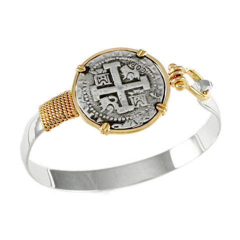 8 Reales Replica Atocha Hook Bracelet - Lone Palm Jewelry
