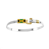 Jamaican Enameled Flag Hook Bracelet - Lone Palm Jewelry