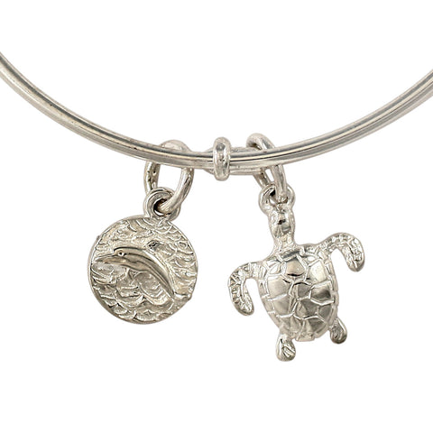 46324 - Turtle and Dolphin Expandable Charm Bracelet