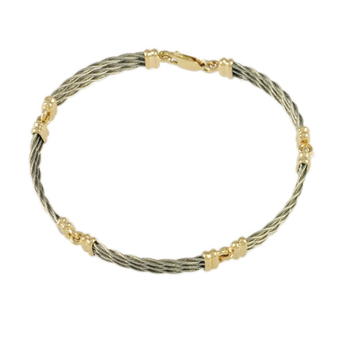 3 Strand 5 Link New Twist Cable Bracelet - Lone Palm Jewelry