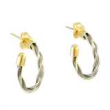 "3/4"" Plain New Twist Hoop Earrings - Lone Palm Jewelry"