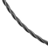 47028 - 3mm Stainless Steel New Twist Cable Necklace