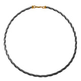 47029 - 4mm Stainless Steel New Twist Cable Necklace