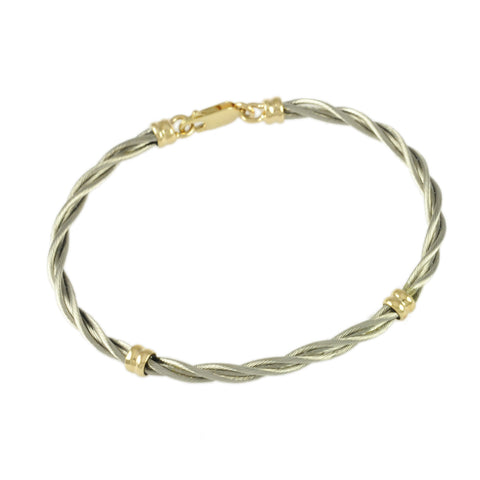 Single New Twist Cable with Grooved Wraps - Lone Palm Jewelry