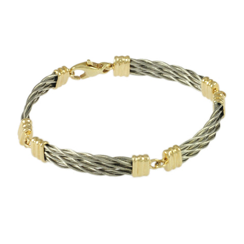 4 Link Triple New Twist Bracelet - Lone Palm Jewelry