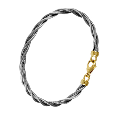 47026 - Single New Twist Cable Bracelet - 5mm