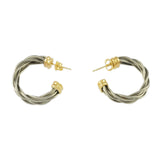 Double New Twist Hoop Earrings - Lone Palm Jewelry