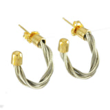 "3/4"" New Twist Hoop Earrings - Lone Palm Jewelry"
