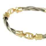 3 Link New Twist Bar Link Bracelet - Lone Palm Jewelry