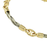 4 Link New Twist Bar Link Bracelet - Lone Palm Jewelry