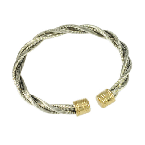 Single New Twist Bullet Cuff - 6mm - Lone Palm Jewelry
