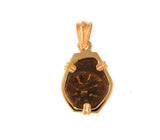 Authentic Widow's Mite Coin 14kt Gold Pendant- Copper Coin from Biblical Times - Item #6003-76