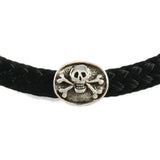 Jolly Roger Skull & Crossbone Oval Pipeline Bead - Lone Palm Jewelry