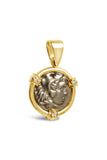 AR Tetradrachm Alexander the Great and Zeus Coin Pendant in 14k - Item #7492