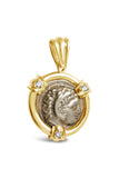 AR Tetradrachm Alexander the Great and Zeus Coin Pendant in 14k - Item #7493