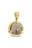 Honey Bee and Stag Drachm in 14k - Item #7527