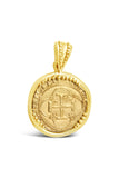 Authentic Old World Spanish Gold Coin - 1 Escudo in a 14k Gold Frame-  Item #7528