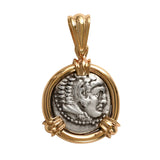 AR Drachm Alexander the Great and Zeus in 14k - Item #7703