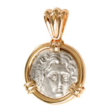 AR Diadrachm Helios and Rose 14k - Item #7707