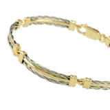 5 Link Gold Center New Twist Bracelet - Lone Palm Jewelry