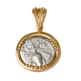 Honey Bee and Stag Drachm in 14k - Item #7903