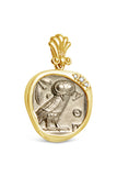 AR Tetradrachm - Athena and Owl in 14k w/Diamonds - Item #8481